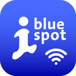 Icon der Bluespot App der Wall AG