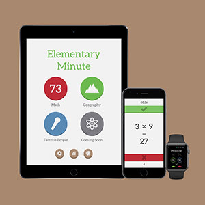Screens der Elementary Minute App